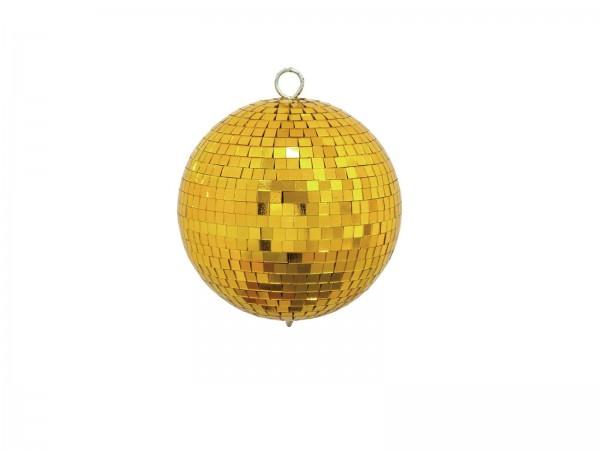Spiegelkugel 15cm farbig gold- Diskokugel (Discokugel) zur Dekoration - Echtglas - mirrorball gold