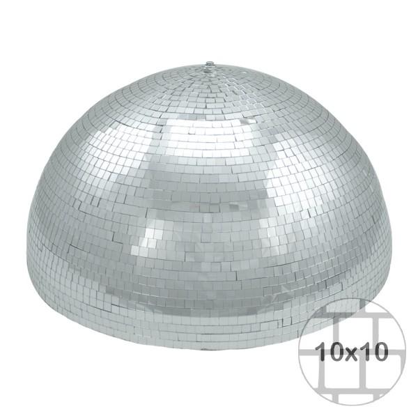 Spiegelkugel halb Halbkugel 50cm silber chrom- Diskokugel (Discokugel) Party Lichteffekt - Echtglas - mirrorball half safety silver chrome color