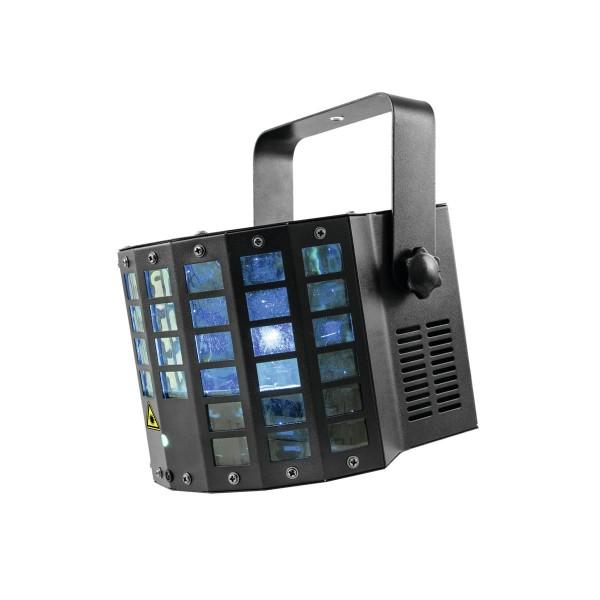 LED Laser Derby - Krasse Beamshow mit hellen LEDs und mehrfarbigen Lasern - DMX, Musik, Programme