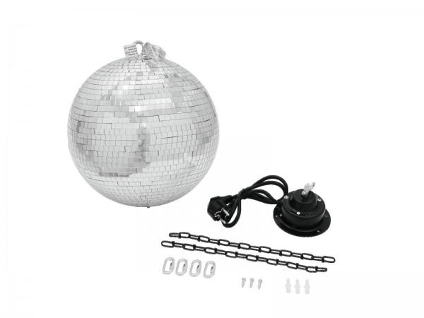 Spiegelkugelset 30cm mit Sicherheitsmotor, 2 Ketten, 4 kettenverbinder - Discokugel Komplettset für Partys, Feste und Dekorationen