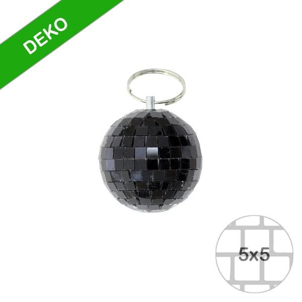 Spiegelkugel 5cm schwarz- Discokugel Echtglas zur Dekoration - mirrorball black