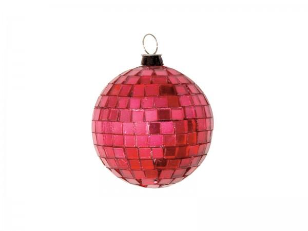 Spiegelkugel 5cm rot- Discokugel Echtglas zur Dekoration - mirrorball red
