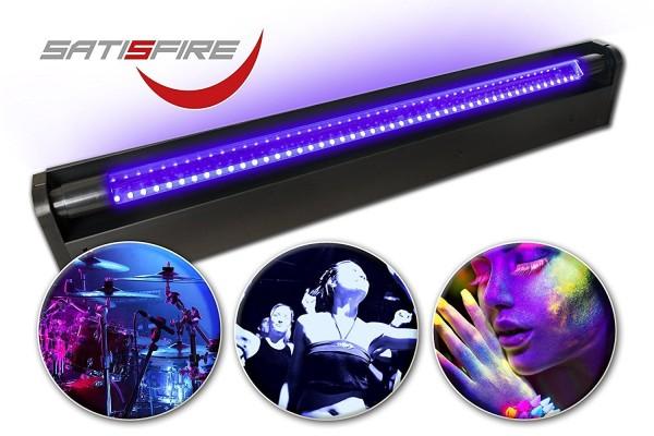 B-Ware: Schwarzlicht LED-UV-Röhre 60cm Komplettset   10W High Power   Longlife   Bruchsicher   wechselbare UV Röhre
