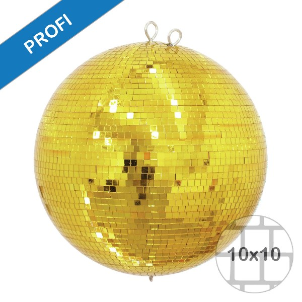 Spiegelkugel 40cm gold- Diskokugel (Discokugel) Party Lichteffekt - Echtglas - mirrorball safety gold color