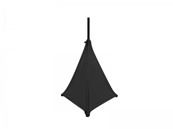 Stativsegel für Dreibeinstativ - schwarz, dreiseitig - für Lautsprecherstative - dehnbar