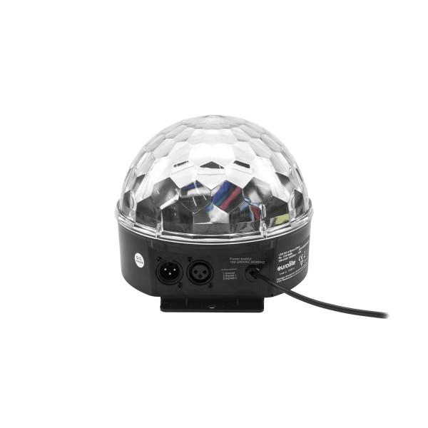 """LED Kugel-Strahleneffekt """"BC-6"""" - 360° Raumeffekt ähnlich Spiegelkugel - 5farbig - langsam & schnell"""