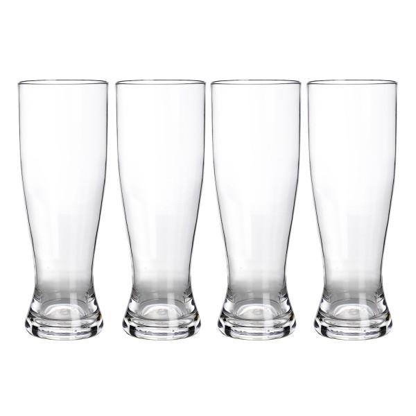 4er Set Weizenbierglas aus bruchfestem Polycarbonat - 500ml