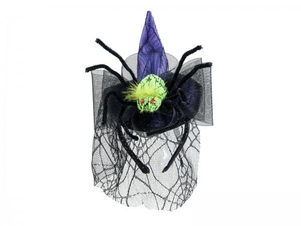 Kostüm für Halloween - Hexenhut mit Spinne