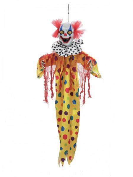 Kleiner Clown, 90cm - Halloween Figur mit LED Blinkeffekten - zum Aufhängen - Horror Clown