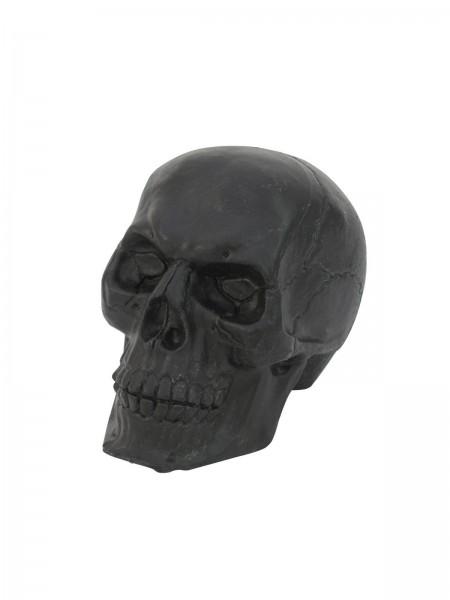 Totenschädel schwarz - Kunststoff - 16cm - Halloween Dekoration