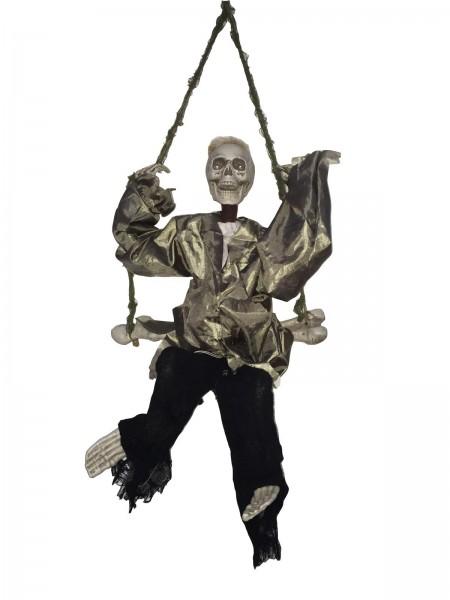 Todesschaukler - bewegte Halloween Figur mit Licht und Geräuscheffekten - 91cm - Geräuschsensor