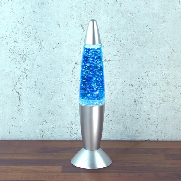 ROCKET LAMP - Glitter RGB - Touchsensor - silber - Wirbelnde Glitzerstückchen