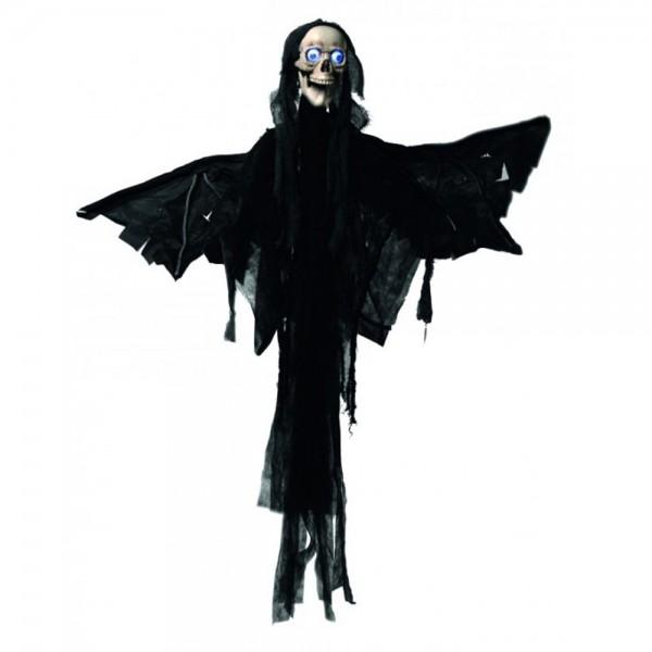 Todes Engel - animiert - Halloween - Figur 1,60m - Bewegt den Kiefer beim Sprechen - Leuchtaugen