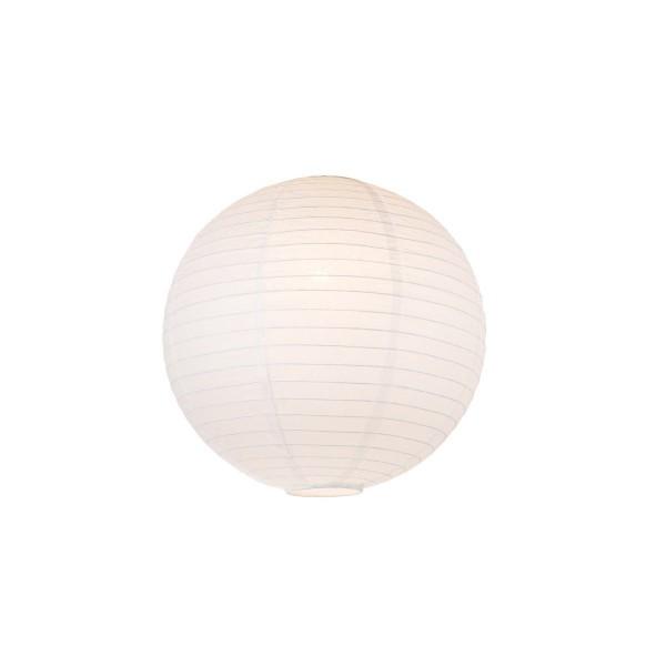 Lampion aus Papier - weiß - 40cm - für E27 Hängefassungen oder Lichterketten