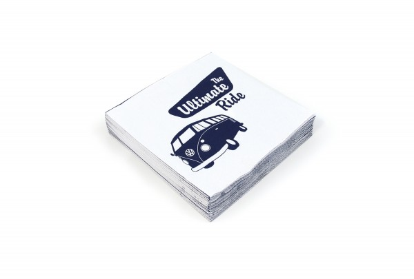"""VW Collection Serviette """"VW T1 THE ULTIMATE RIDE"""" - 20er Pack - 16,5x16,5cm - 100% recycling"""