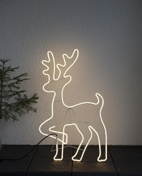 """LED-Silhouette """"Neoled"""" Rentier - 600 warmweiße LED - H: 84cm - outdoor"""