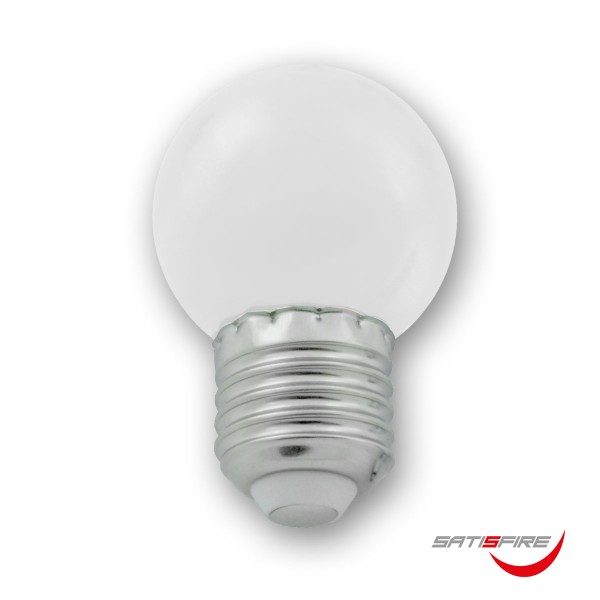 LED Leuchtmittel G45 - kaltweiß 6000K - E27 - 1W | SATISFIRE