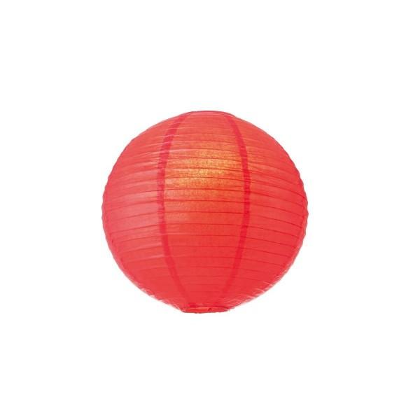 Lampion aus Papier - rot - 40cm - für E27 Hängefassungen oder Lichterketten
