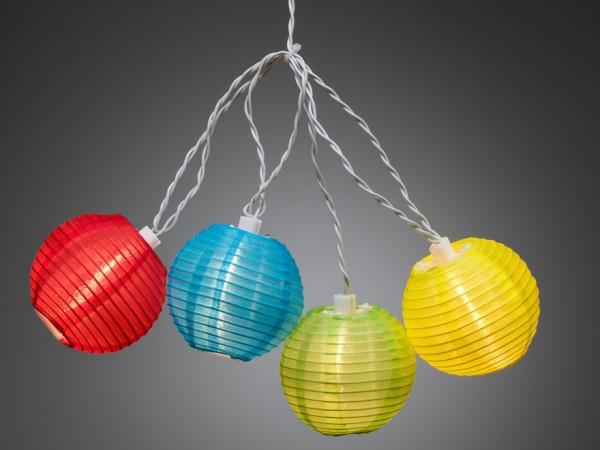 LED-Party-Lichterkette - Lampion Line Outdoor - 4,75m - 20x Bunt - Weiß
