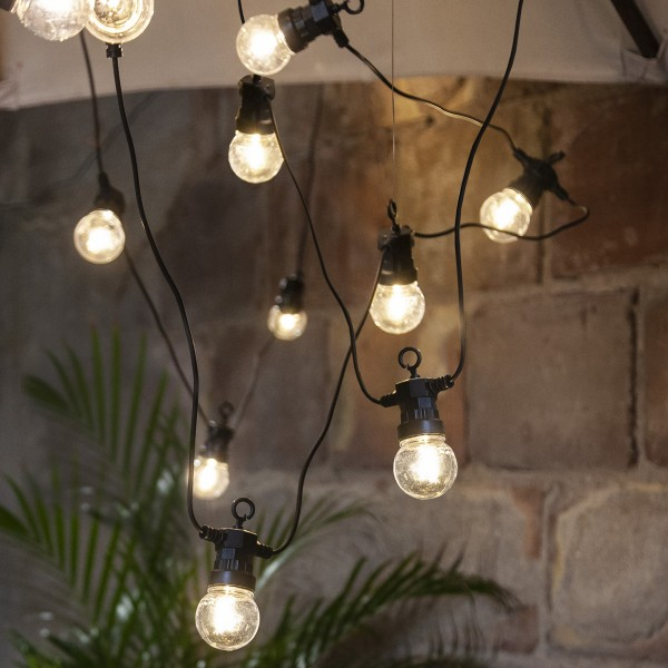 "LED Lichterkette ""CIRCUS"" - 20 Kugeln, D: 5cm - warmweiße Filament LED - 8,8m - inkl.Trafo - outdoor"