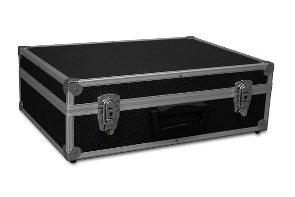 GORANDO® Transportkoffer schwarz, Alurahmen | 440x300x130mm | Für Werkzeuge, Kameras, Messgeräte etc.