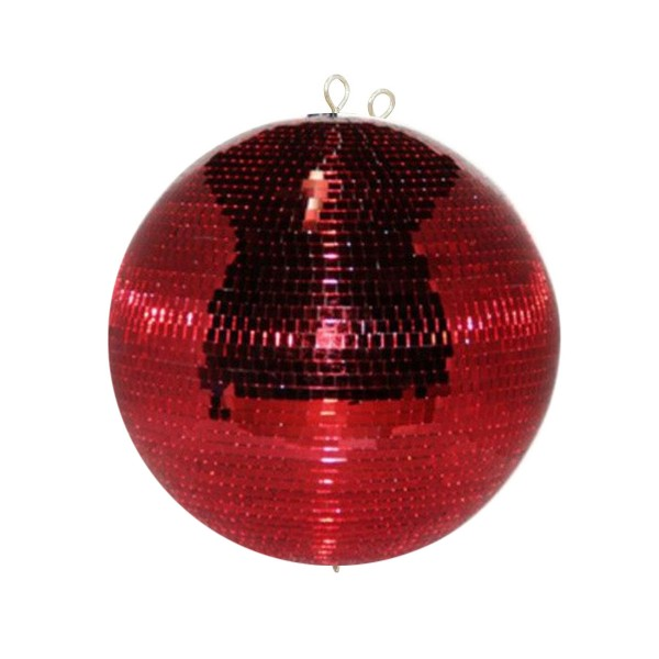 Spiegelkugel 40cm rot- Diskokugel (Discokugel) Party Lichteffekt - Echtglas - mirrorball safety red color