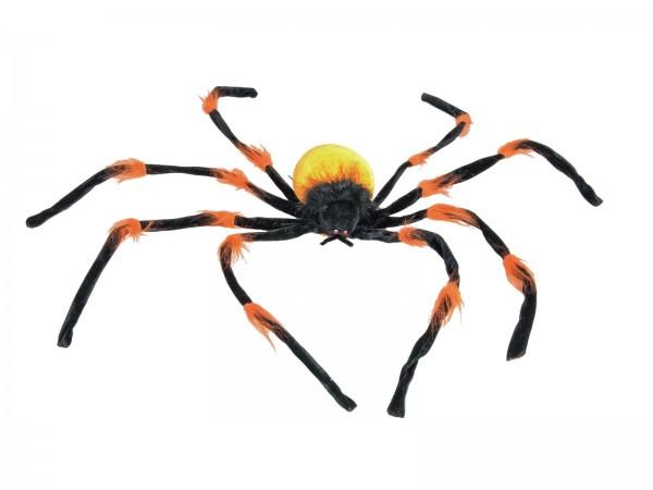 Riesige Halloween Spinne, 110x110x12cm - biegsame Beine - Giftige Signalfarben