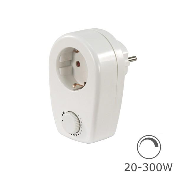 Steckdosendimmer 20-300W - ohmsche Lasten - Schutzkontakt-Stecker