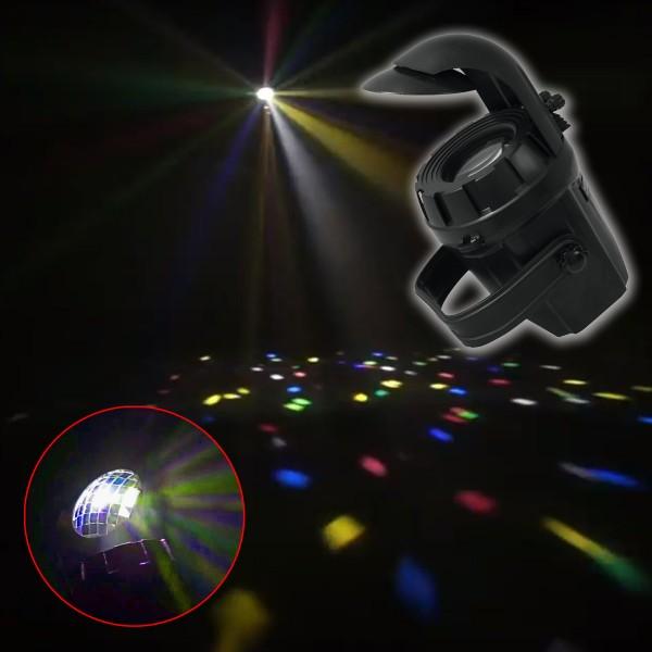 LED Party Flower - Farbenfroher Lichteffekt mit Musiksteuerung und Automatikprogrammen - 1 x 10W LED