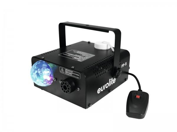 Nebelmaschine mit integriertem Lichteffekt - Hybrid-Partyeffekt - RGB LED Flower - 450W Heizleistung