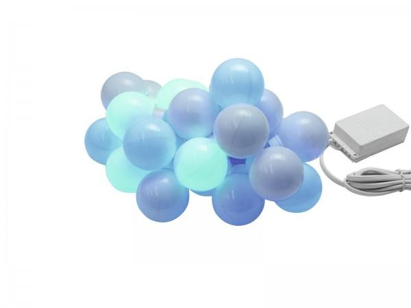 LED Party Balls Lichterkette - 20 Kugeln - 8 Programme - 4 Farbig - 6,90m