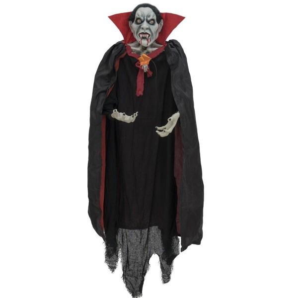 Schwebender Vampir - 170cm Halloween Figur zum Hängen - Licht- und Soundeffekte - Grusel Deko