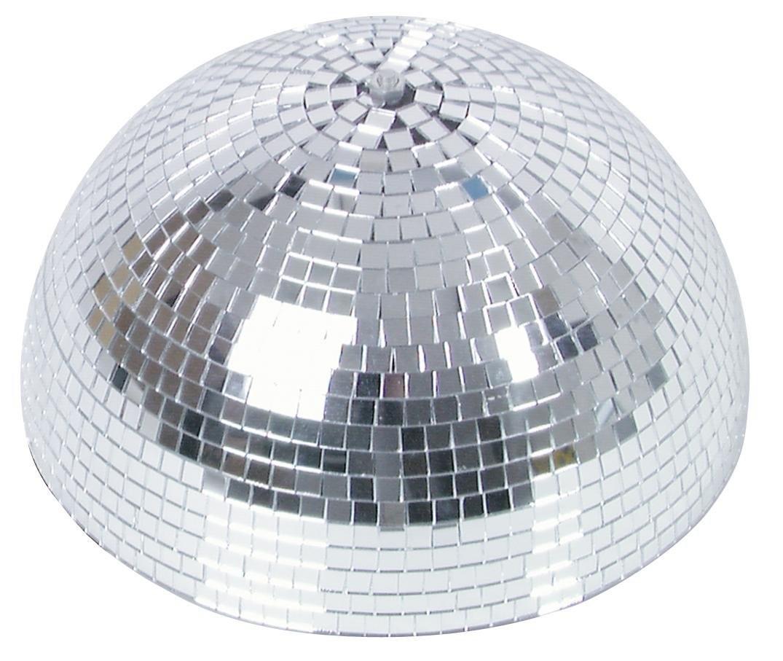 B-Ware Spiegelkugel halb 30cm - für Deckenmontage - Diskokugel Echtglas - 10x10mm Spiegel - PROFI