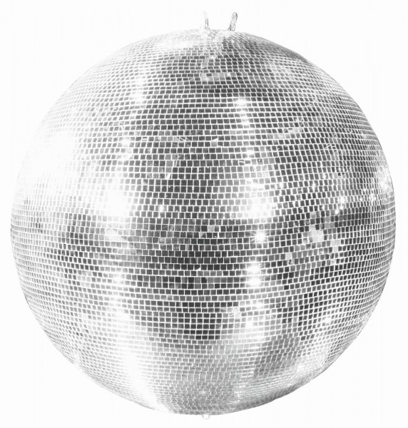 Spiegelkugel 75cm silber chrom- Diskokugel (Discokugel) Party Lichteffekt - Echtglas - mirrorball safety silver chrome color