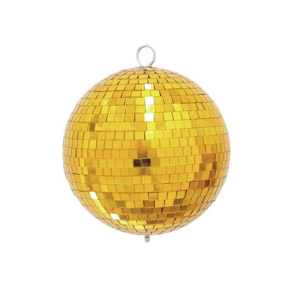 Spiegelkugel 20cm farbig gold- Diskokugel (Discokugel) zur Dekoration und Party- Echtglas - mirrorball gold