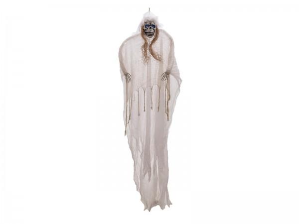 Riesiger Hängender Geist XXL - 275cm Halloween Figur - Blinkende Augen - zum Hängen