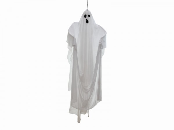Schwebender, weißer Geist - 170cm Halloween Figur - zum Aufhängen - Grusel Dekoration