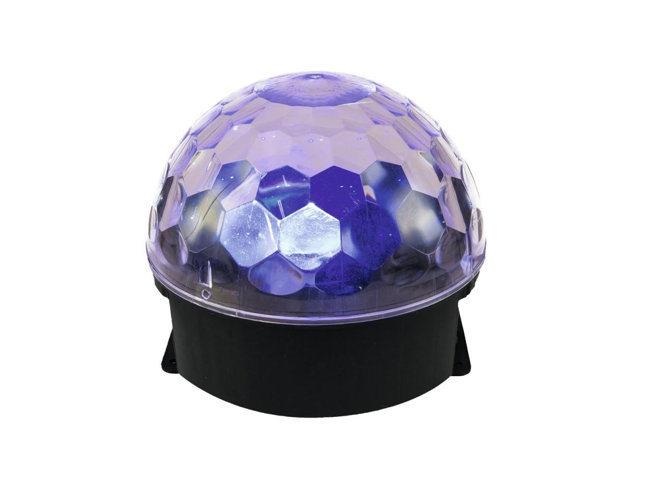 BC-4 Pilzkopf 6-farbig Diskokugel LED Effekt - RGBW + Orange +UV - drehend