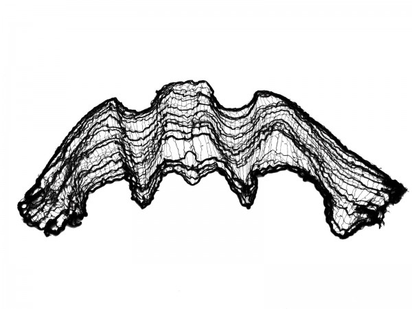 Dekogewebe schwarz - grobmaschig 75 x 500cm