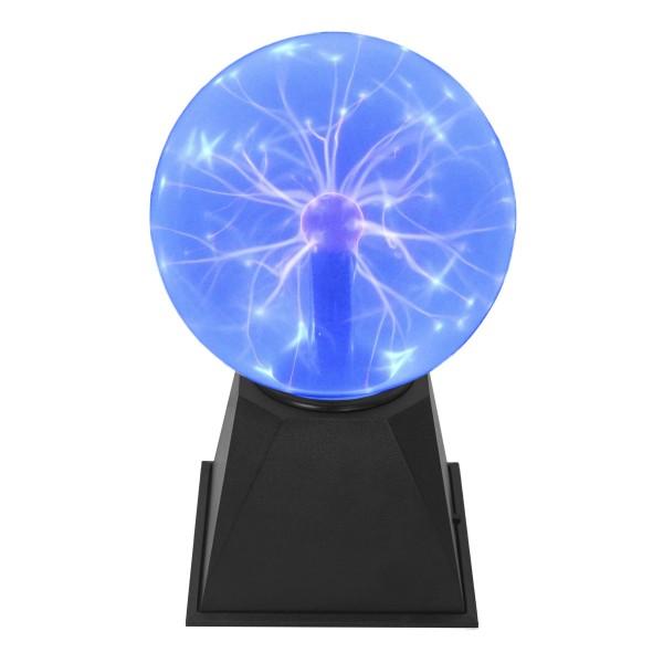 Plasmakugel – zuckend, blaue Blitz-Show – Automatikbetrieb oder Musiksteuerung - 15cm Kugel