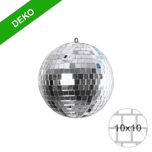 Spiegelkugel 15cm silber- Diskokugel (Discokugel) zur Dekoration - Echtglas - mirrorball silver chrome