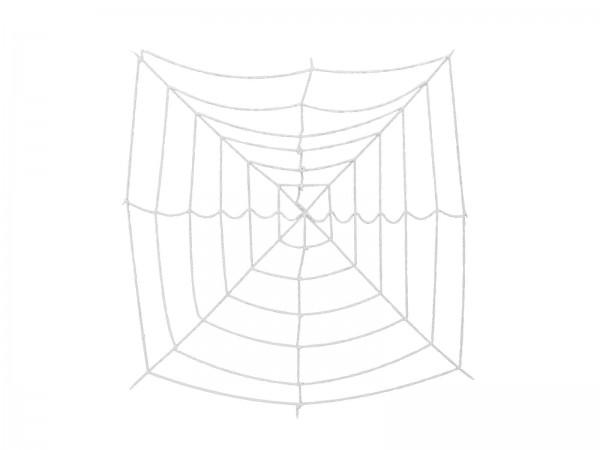 Halloween Spinnennetz, 180x180cm - UV Aktiver Stoff - dicke Fäden zum Befestigen von Spinnen
