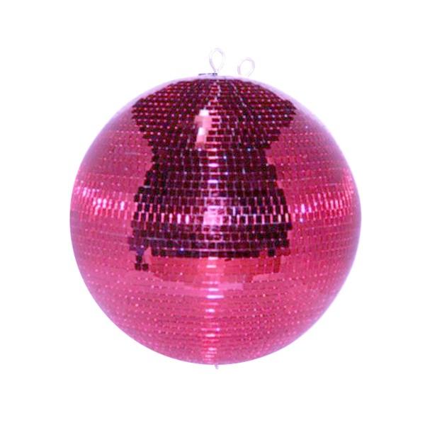 Spiegelkugel 40cm pink rosa purple- Diskokugel (Discokugel) Party Lichteffekt - Echtglas - mirrorball safety pink color
