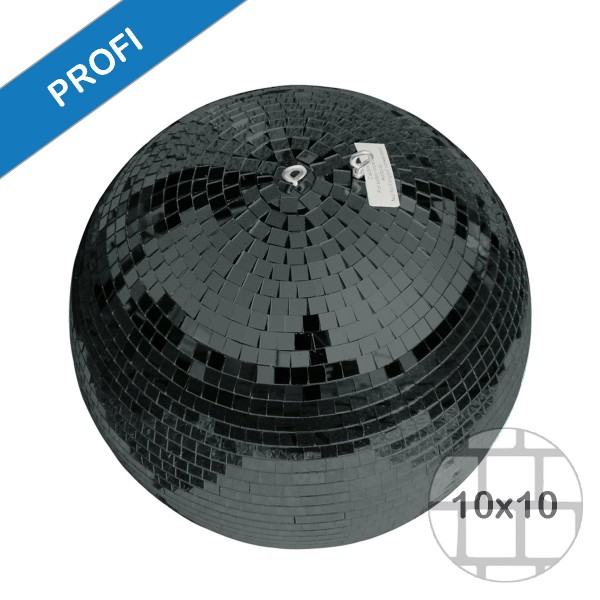 Spiegelkugel 40cm schwarz- Diskokugel (Discokugel) Party Lichteffekt - Echtglas - mirrorball safety black color
