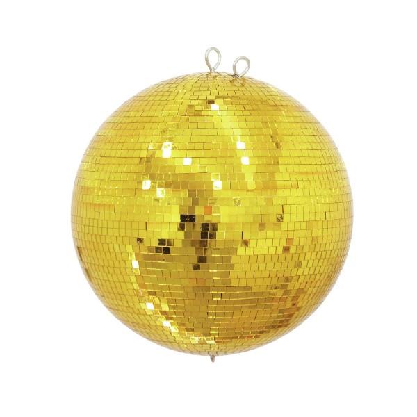 Spiegelkugel 100cm gold - Diskokugel (Discokugel) Party Lichteffekt - Echtglas - mirrorball safety gold color