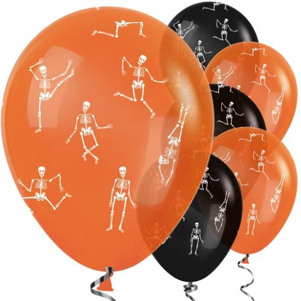 Halloween Ballons 25 Stück - schwarz/orange - Latex - 30cm