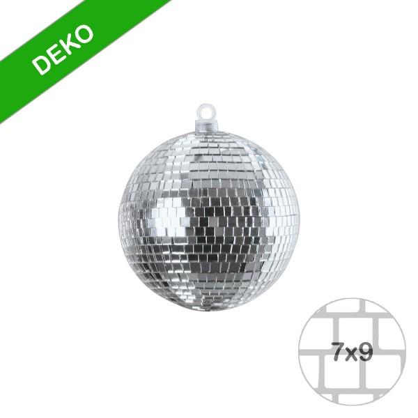 Spiegelkugel 10cm silber- Diskokugel (Discokugel) zur Dekoration - Echtglas - mirrorball silver