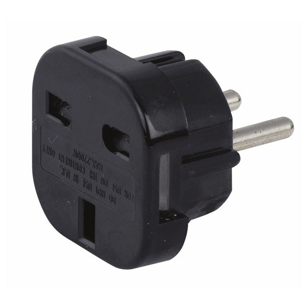 Schuko to UK plug adapter