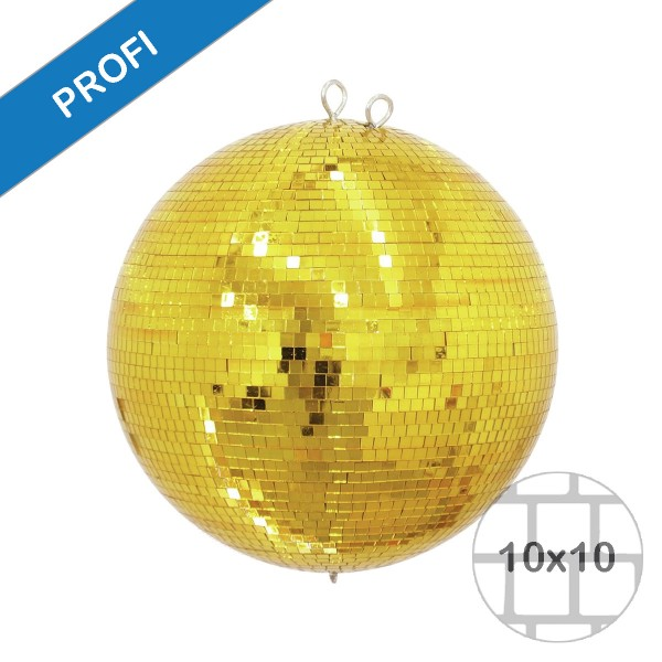 Spiegelkugel 30cm farbig gold- Diskokugel (Discokugel) Party Lichteffekt - Echtglas - mirrorball gold color