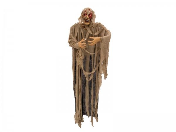 Grusel Mumie - 170cm Halloween Figur - rot blinkende Augen - Gruselgeräusche - zum Hängen